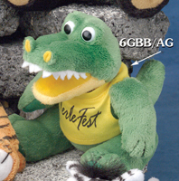 6 inch alligator from the GB Plush Beanies Collection. We have a large selection of promotional stuffed alligator plush toys.