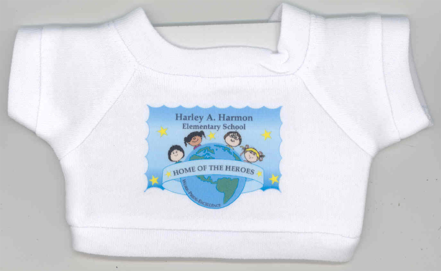 Teddy bears with four color process printed t shirts for 4 color process t shirt printing
