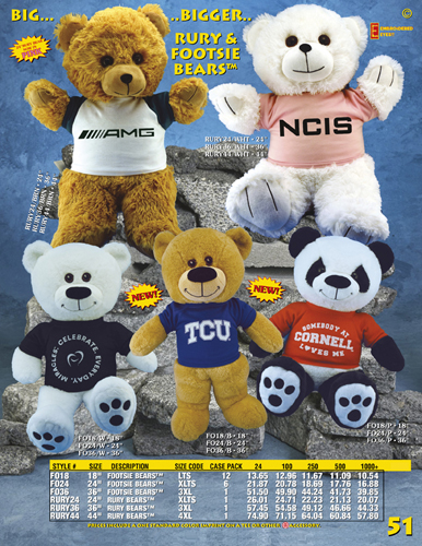 Catalog Page 51 - Large Teddy Bears