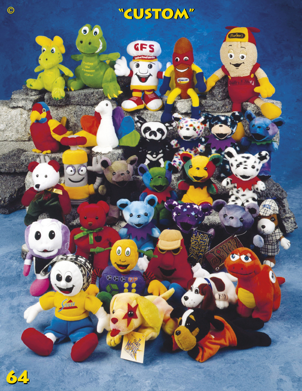 Catalog Page 64. Plush toy manufacturer. Teddy bear company. Teddy bear factory.